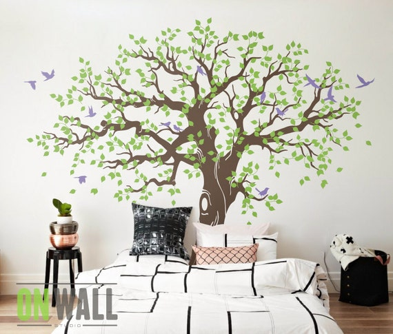 Large Family Tree Wall Decal Nursery Tree Wall Decals Tree | Etsy