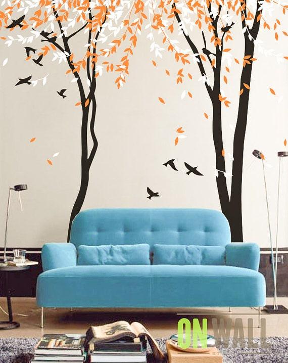 Baum, Wandtattoo Kinderzimmer Baum Wandtattoo, Wandbild Baum mit Vögeln,  Vinyl Wall Decal - MM018