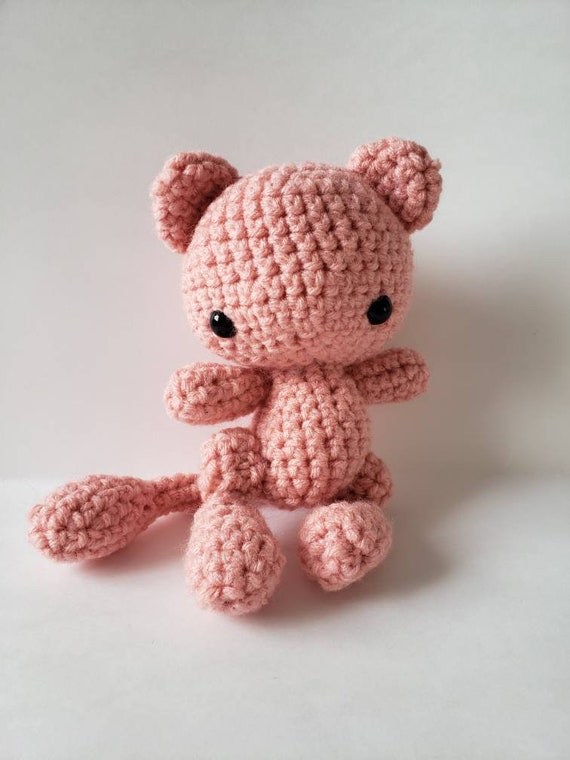I crocheted Mewtwo and Mew : pokemon | 760x570