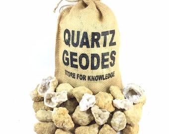 "40 Break Your Own Geodes Whole Moroccan Geodes 1.5"" Bulk Gift Pack Quartz Crystals"