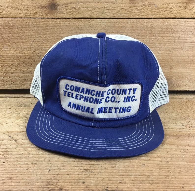 Comanche County Texas - Comanche County Telephone Co  INC - Blue and and  White Hat