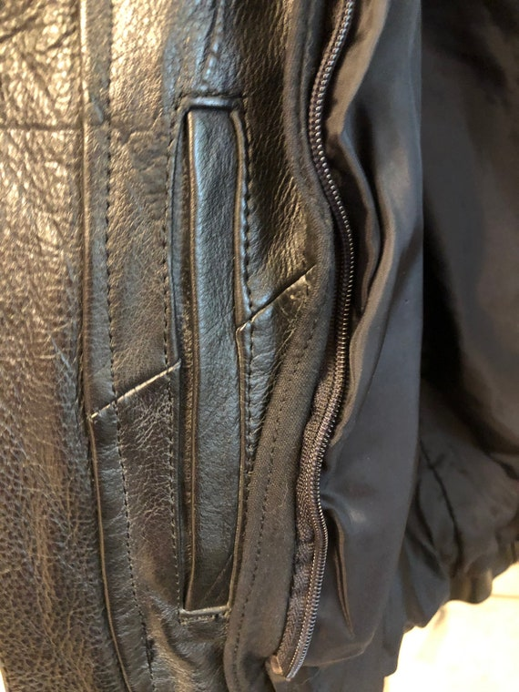 Fringed Black leather Jacket - image 5