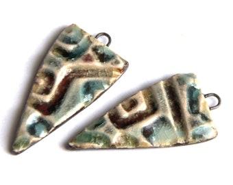bf7d620fd29c A pair of ceramic dangles   pendants