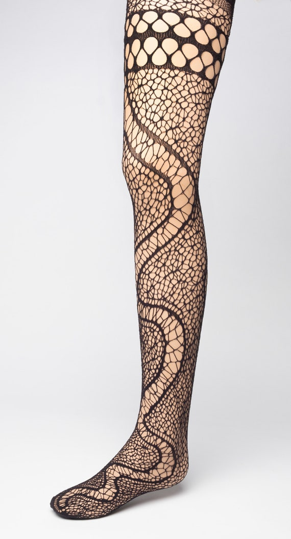 Vintage 1950/'s Danskin Seamless Netskins black fishnet tights adult professional size A XS XXS