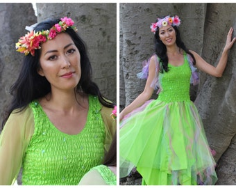 Adult Fun Fairy Costume ~  Mardi Gras ~ Halloween Party Dress ~ Masquerade ~ Theatre ~ Fantasy ~