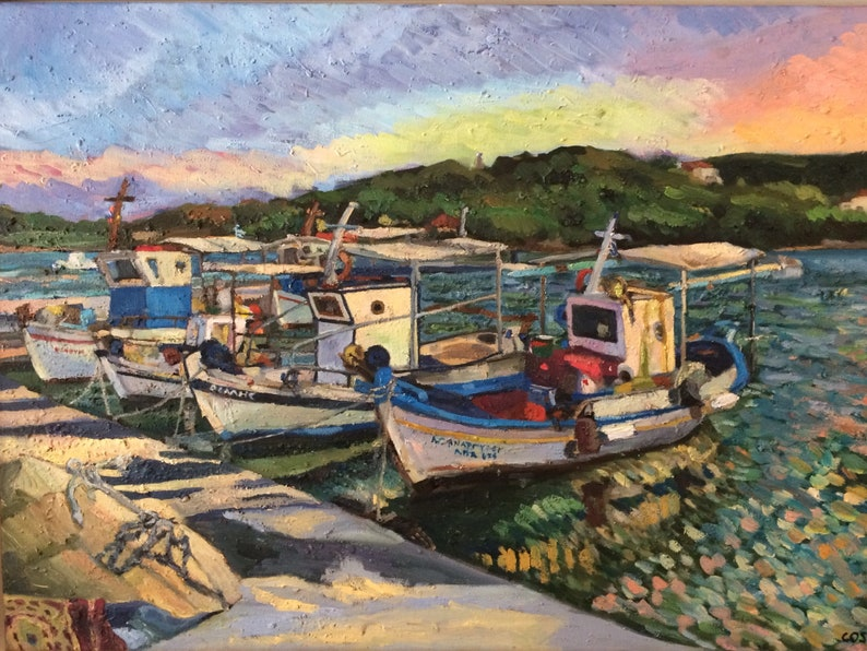 Moored Fishing Boats at the Little Crab Baltisa Porto image 0