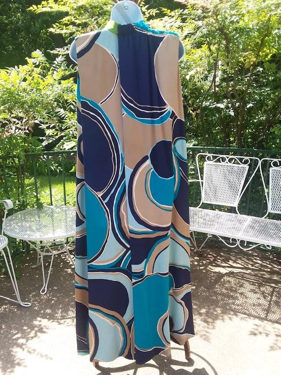 Arnold Scaasi Vintage Op-Art Dress, 1960s - image 3