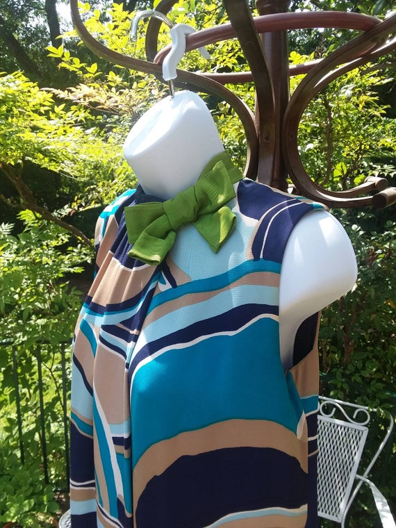 Arnold Scaasi Vintage Op-Art Dress, 1960s