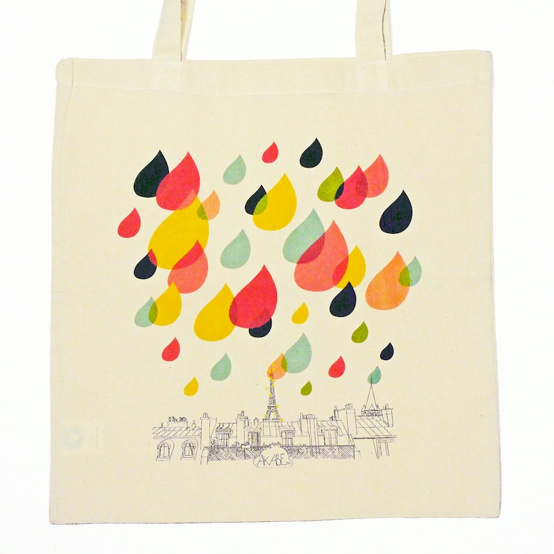 ceeabac64c RAIN Organic cotton tote bag Paris souvenir