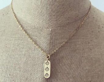 Past Present Future Necklace