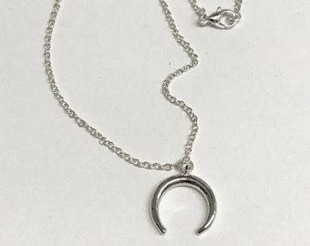 Silver Half Moon Necklace