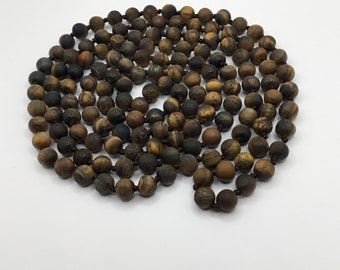 Tigers Eye Infinity Necklace
