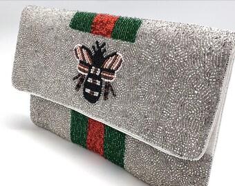 Bee You Silver Handbag