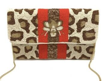 Bee Clutch/Crossbody Bag
