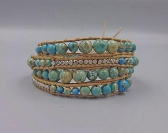 Imperial Jasper Wrap Bracelet