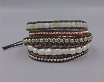Mixed Stone Wrap Bracelet