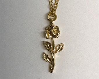 18K Gold Filled Rose Necklace