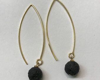 Lava Bead Earrings