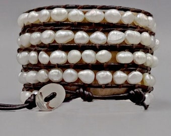 Cultured Pearl Wrap Bracelet