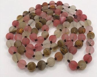 Cherry Quartz Bead Necklace
