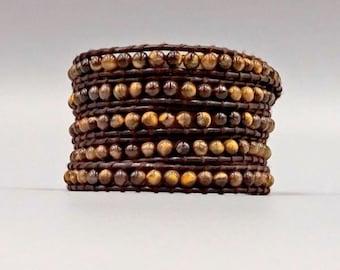 Tigers Eye Wrap Bracelet