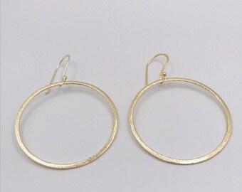 Gold Hoop Earrings, Large Hoops