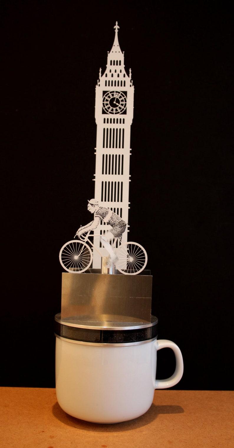 Tea driven bicycle automata image 0