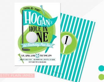 Golf Birthday Invitation   Golf Birthday Par-tee   Printable Golf Birthday Invitation   Boy or Girl Golf 1st Birthday   Hole in One Invite