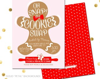 Cookie Swap Invite Etsy