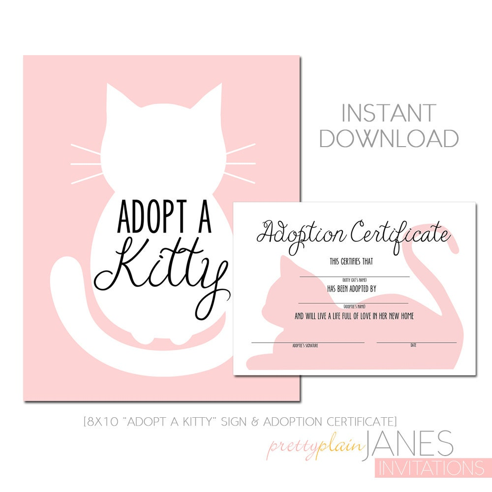 This is a graphic of Irresistible Cat Birth Certificate