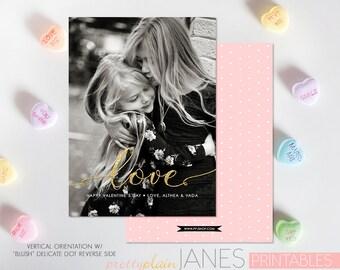 LOVE Valentine Photo Card Printable   Custom Valentine   Digital Printable Valentine   Classroom Valentine