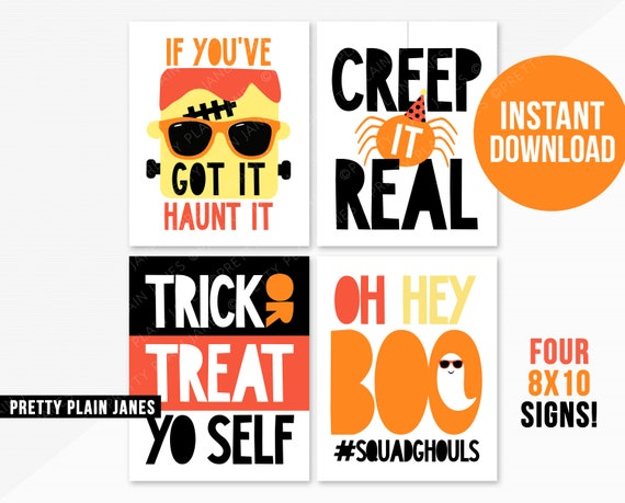 picture relating to Halloween Signs Printable named Prompt Down load Halloween Symptoms 8X10 Halloween Printable Symptoms Creep It Genuine Halloween Halloween Dress Birthday Get together Symptoms