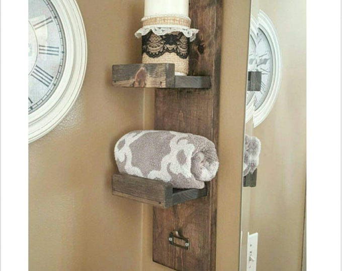 Towel Rack - Hand Towel Rack - Towel Holder - Rustic Towel Rack - Bath Towel Rack - Bathroom Towel Rack