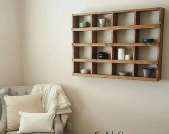 Large Wall Cubby Organizer - Large Wall Cubby - Wall Shelf - Cubby Organizer