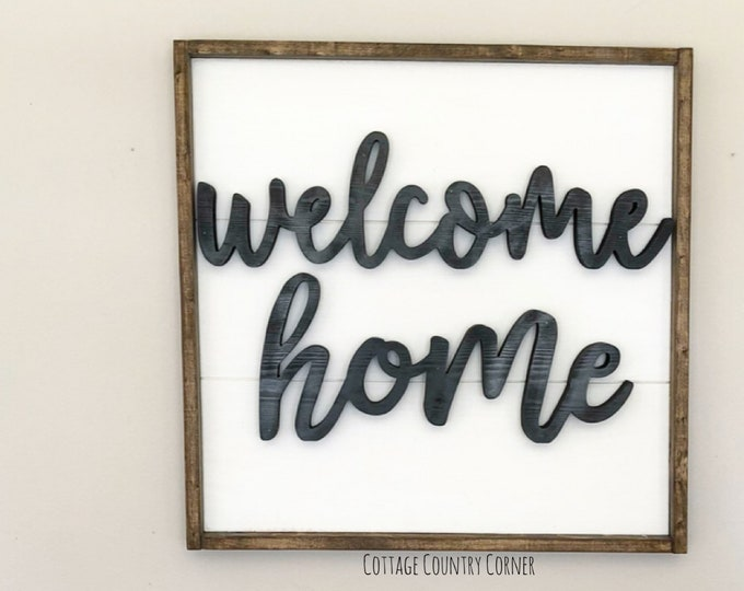 24 x 24 Large Welcome sign - Welcome Home sign - Shiplap sign - Shiplap decor - Shiplap Art - Farmhouse Decor - Home Decor