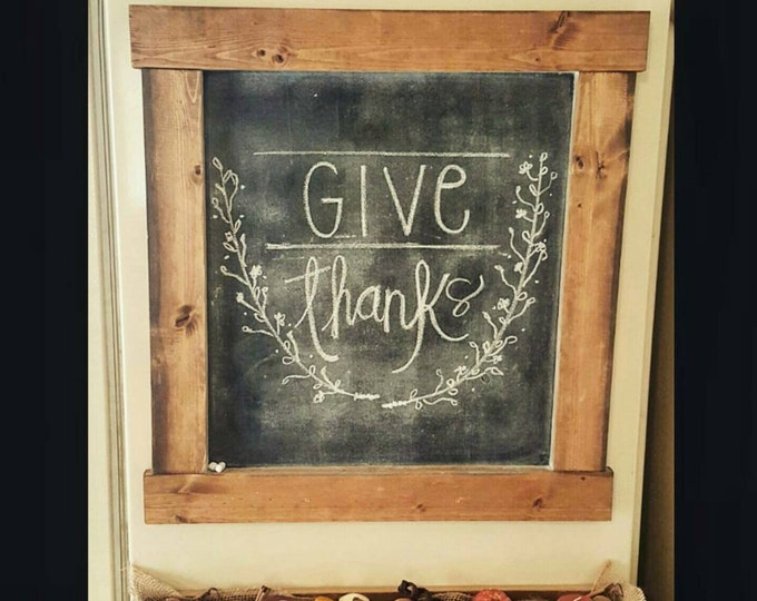 Chalkboard - Wood Chalkboard - Decorative Chalkboard - Memo Board - Chalkboard Calender - Farmhouse Wall Decor - Farmhouse Decor