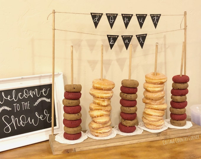 Donut Wall | Donut Bar | Wedding Donut Wall | Donut Party | Donut Holder | Donut Favors | Acrylic Donut Stand - Bridal Shower - Baby Shower