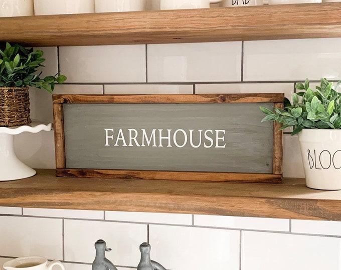 Farmhouse Sign - Farmhouse Wood Sign - Farmhouse Wall Decor - Wood Farmhouse Sign - Farmhouse Wood Wall Decor - Farmhouse Decor