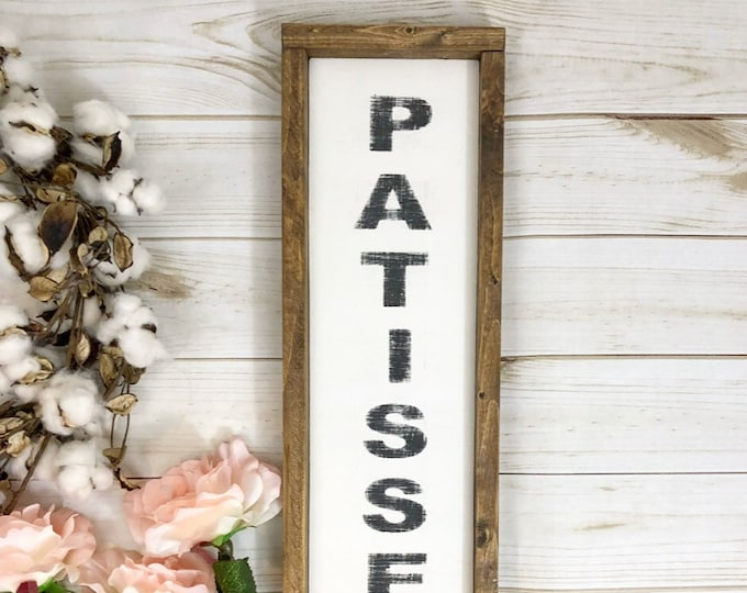 Patisserie sign - Wood Patisserie sign - farmhouse kitchen - farmhouse kitchen decor - kitchen decor - home decor - farmhouse home