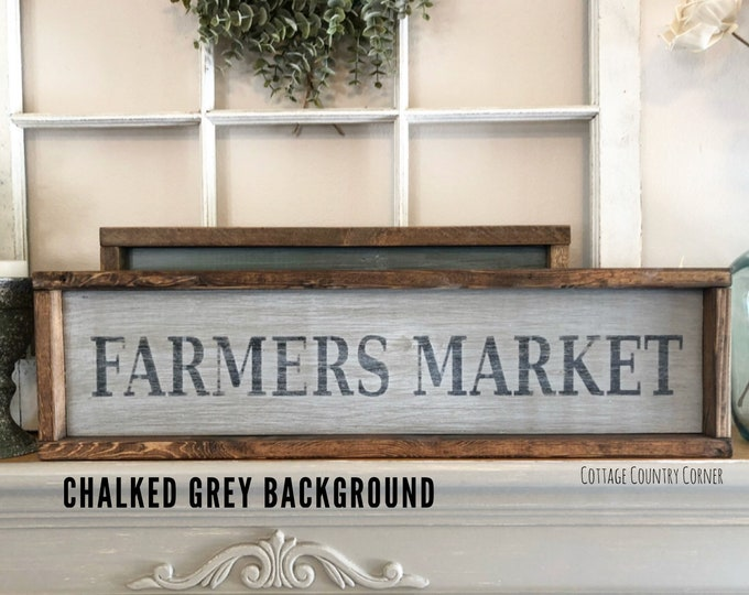 Farmers Market sign - farmhouse decor - farmhouse kitchen - farmhouse kitchen decor - kitchen decor - home decor - farmhouse sign