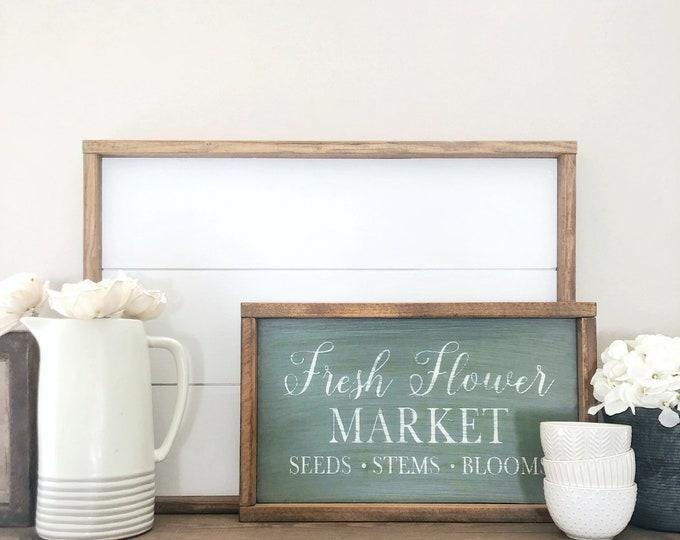 Fresh Flower Market Sign