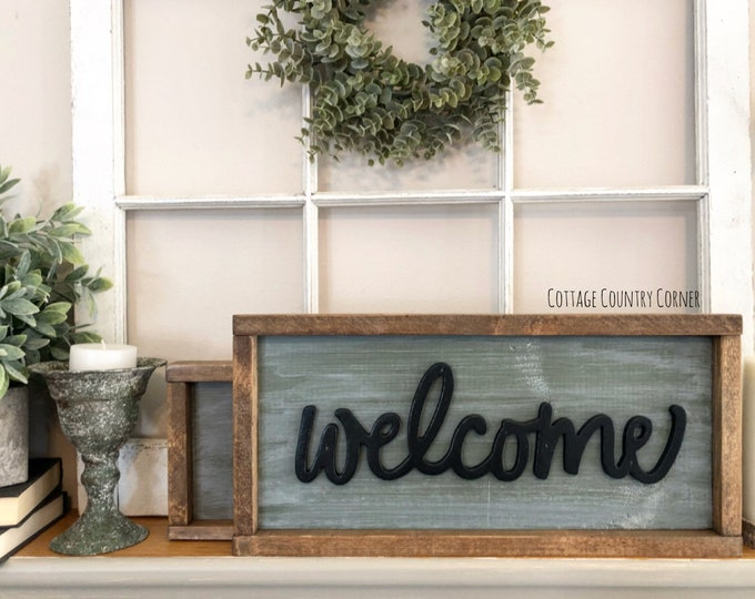 Welcome sign - Farmhouse decor - Wall Decor - farmhouse kitchen - farmhouse kitchen decor - kitchen decor - home decor