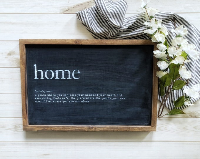 """Home Definition Sign - 12"""" x 20"""""""