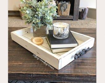 14 x 20 Magazine Tray - Coffee Table Tray - Magazine Tray - Coffee Table Tray - Rustic wooden ottoman tray - decorative tray - coffee table