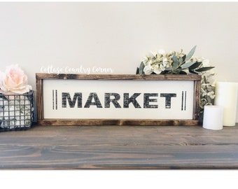 Market sign - Wood Market Sign - farmhouse decor - farmhouse kitchen - farmhouse kitchen decor - kitchen decor - home decor - farmhouse home