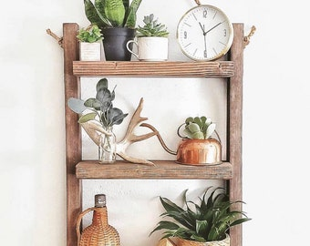 Rustic Rope Shelf