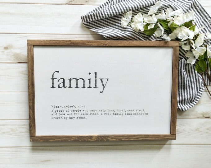 """Family Definition Sign - 12"""" x 20"""""""
