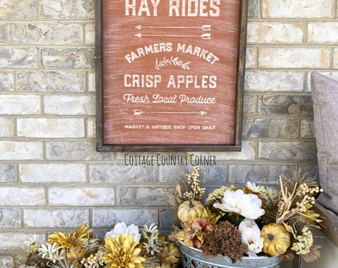 Harvest sign - Farmhouse decor - Wall Decor - farmhouse kitchen - farmhouse kitchen decor - kitchen decor - home decor