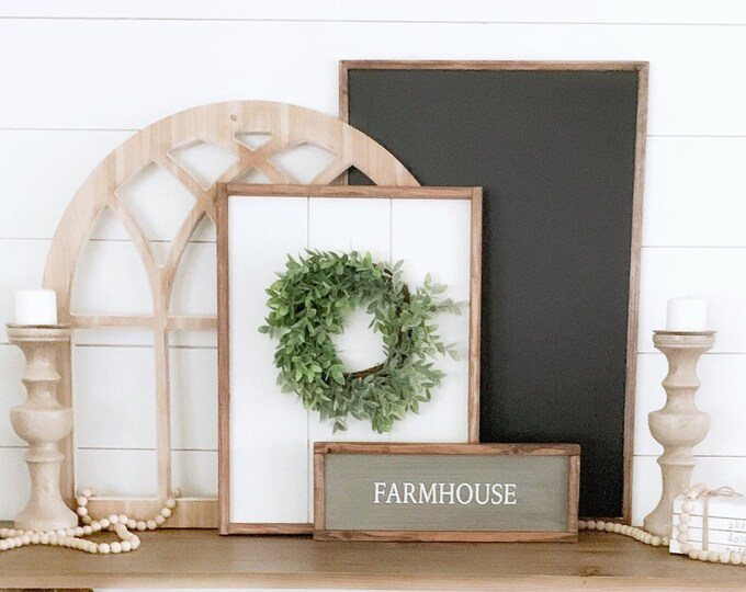 Framed Shiplap Sign
