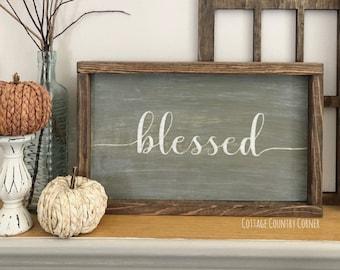 Blessed sign - Farmhouse decor - Wall Decor - farmhouse kitchen - farmhouse kitchen decor - kitchen decor - home decor